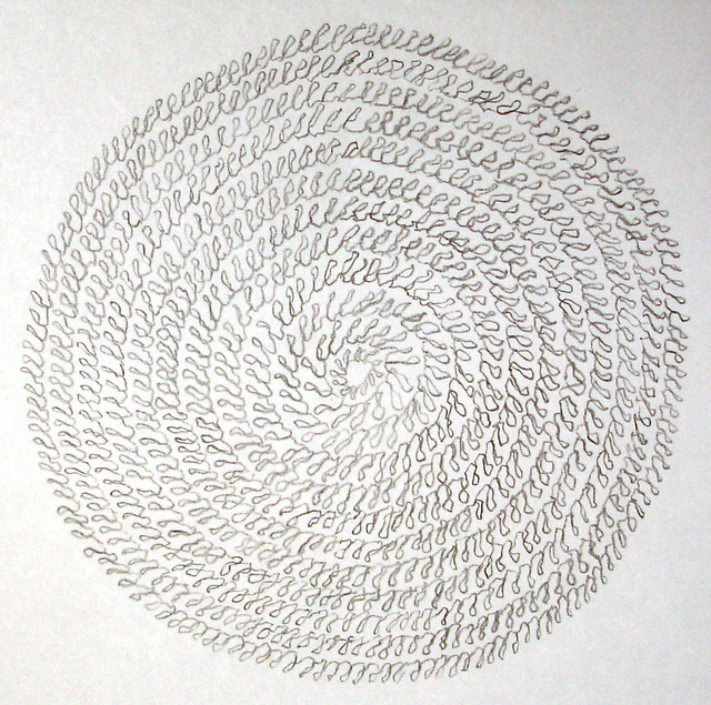 12 concentric circles of 777 loops, 2005